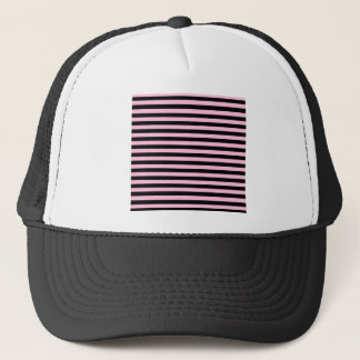 Thin Stripes - Black and Cotton Candy Trucker Hat