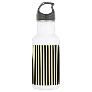 Thin Stripes - Black and Cream 532 Ml Water Bottle