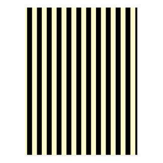Thin Stripes - Black and Cream Postcard
