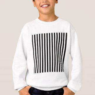 Thin Stripes - Black and Cream Sweatshirt