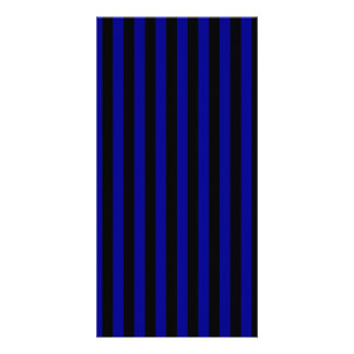 Thin Stripes - Black and Dark Blue Card
