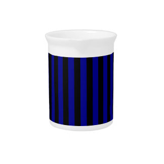 Thin Stripes - Black and Dark Blue Pitcher