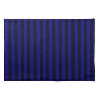 Thin Stripes - Black and Dark Blue Place Mat