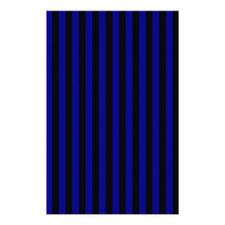 Thin Stripes - Black and Dark Blue Stationery