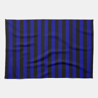 Thin Stripes - Black and Dark Blue Tea Towel