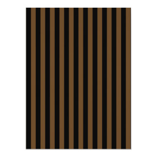 Thin Stripes - Black and Dark Brown Card