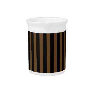 Thin Stripes - Black and Dark Brown Pitcher
