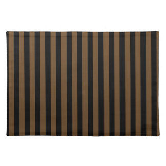 Thin Stripes - Black and Dark Brown Placemat