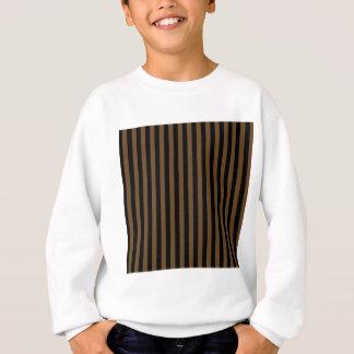 Thin Stripes - Black and Dark Brown Sweatshirt