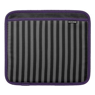 Thin Stripes - Black and Dark Gray iPad Sleeve
