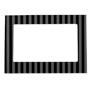 Thin Stripes - Black and Dark Gray Magnetic Frame