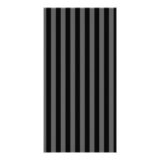 Thin Stripes - Black and Dark Gray Picture Card