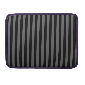 Thin Stripes - Black and Dark Gray Sleeve For MacBook Pro