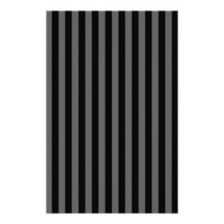 Thin Stripes - Black and Dark Gray Stationery
