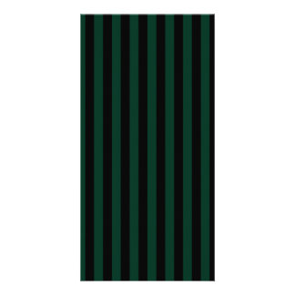Thin Stripes - Black and Dark Green Picture Card