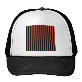 Thin Stripes - Black and Dark Pastel Red Cap