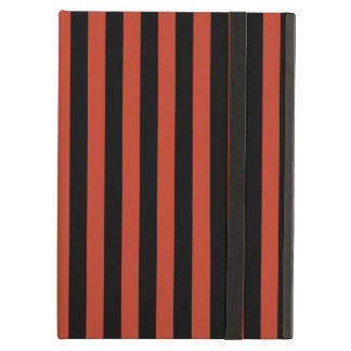 Thin Stripes - Black and Dark Pastel Red iPad Air Cover