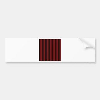 Thin Stripes - Black and Dark Red Bumper Sticker