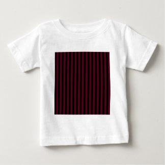 Thin Stripes - Black and Dark Scarlet Baby T-Shirt