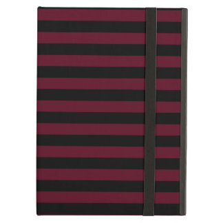 Thin Stripes - Black and Dark Scarlet Case For iPad Air