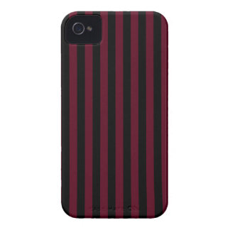 Thin Stripes - Black and Dark Scarlet iPhone 4 Case-Mate Case