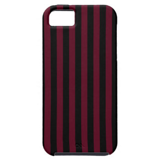 Thin Stripes - Black and Dark Scarlet iPhone 5 Cover