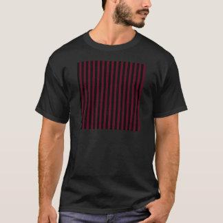 Thin Stripes - Black and Dark Scarlet T-Shirt