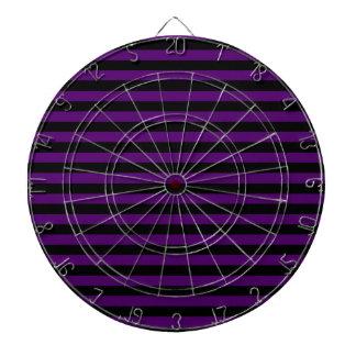 Thin Stripes - Black and Dark Violet Dartboard