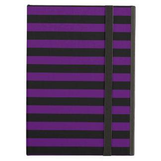 Thin Stripes - Black and Dark Violet iPad Air Cover