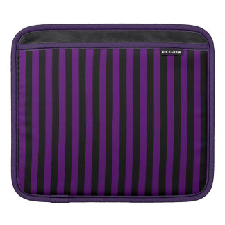 Thin Stripes - Black and Dark Violet iPad Sleeve