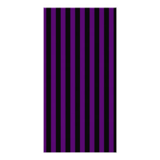 Thin Stripes - Black and Dark Violet Picture Card