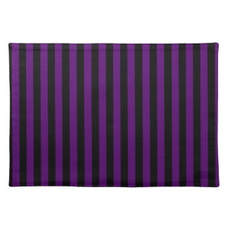 Thin Stripes - Black and Dark Violet Placemat