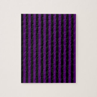 Thin Stripes - Black and Dark Violet Puzzle