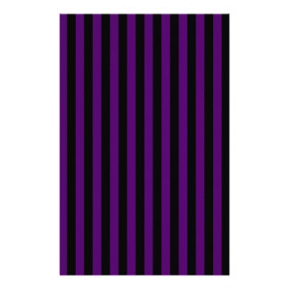 Thin Stripes - Black and Dark Violet Stationery