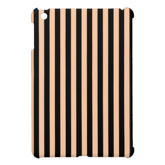 Thin Stripes - Black and Deep Peach Cover For The iPad Mini