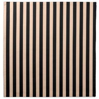Thin Stripes - Black and Deep Peach Napkin