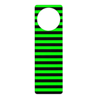 Thin Stripes - Black and Electric Green Door Hanger