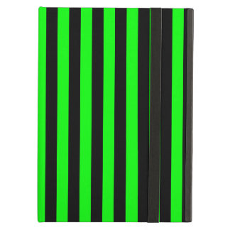 Thin Stripes - Black and Electric Green iPad Air Case