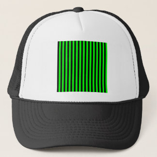 Thin Stripes - Black and Electric Green Trucker Hat