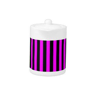 Thin Stripes - Black and Fuchsia