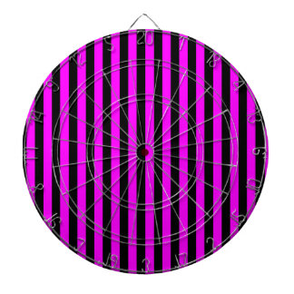 Thin Stripes - Black and Fuchsia Dartboard