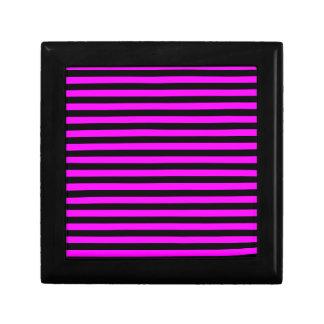 Thin Stripes - Black and Fuchsia Gift Box