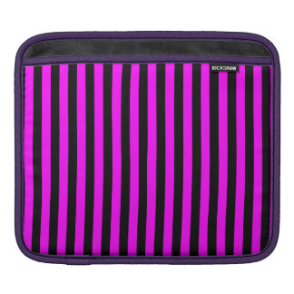 Thin Stripes - Black and Fuchsia iPad Sleeve
