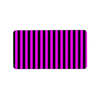 Thin Stripes - Black and Fuchsia Label