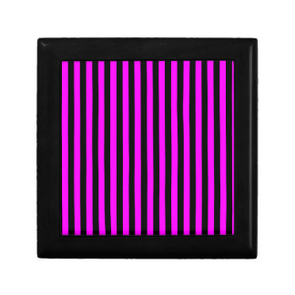Thin Stripes - Black and Fuchsia Small Square Gift Box