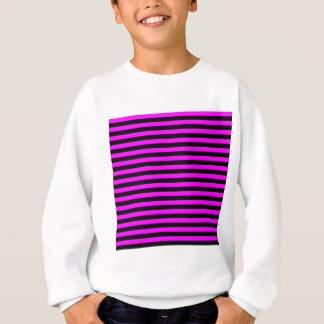 Thin Stripes - Black and Fuchsia Sweatshirt