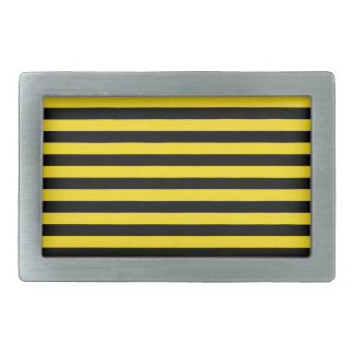 Thin Stripes - Black and Golden Yellow Belt Buckles