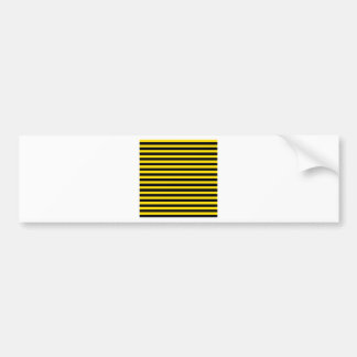 Thin Stripes - Black and Golden Yellow Bumper Sticker