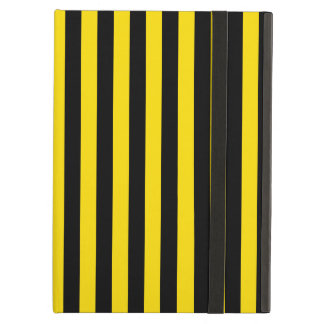 Thin Stripes - Black and Golden Yellow Cover For iPad Air