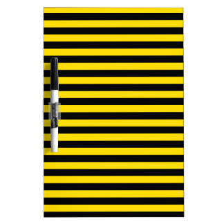 Thin Stripes - Black and Golden Yellow Dry-Erase Board